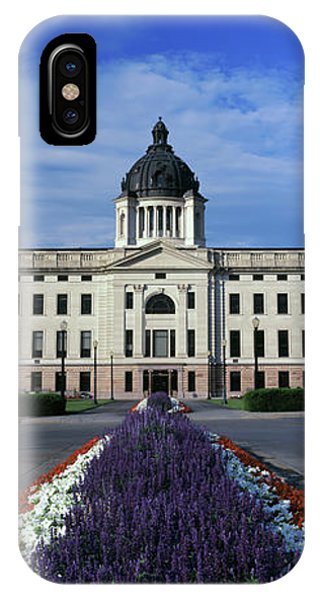 Capitol Building iPhone Case - Formal Garden Outside A Government by Panoramic Images