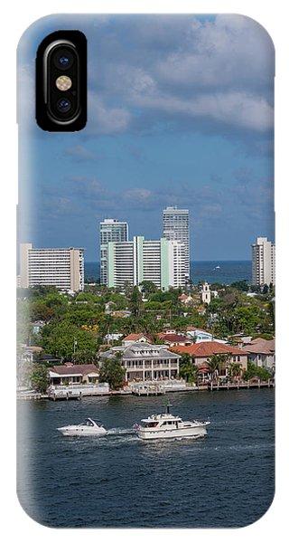 Jet Ski iPhone X Case - Fort Lauderdale, Port Everglades by Jim Engelbrecht
