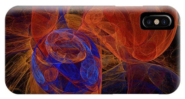 Fractal iPhone X Case - Fractal by Carol & Mike Werner