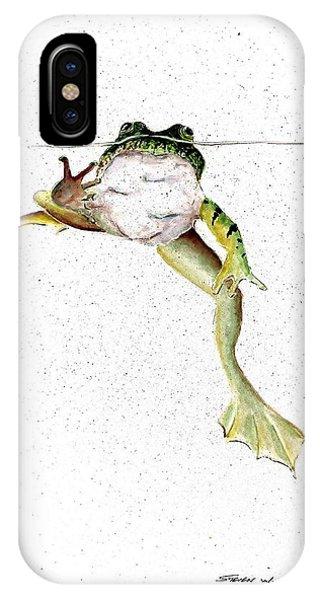 Frog On Waterline IPhone Case
