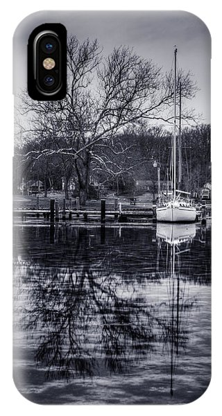 Frozen Sailboat And Cloudy Ice IPhone Case