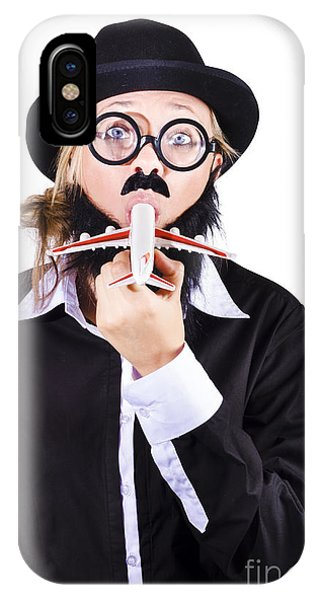 Funny Woman Eating Toy Plane IPhone Case