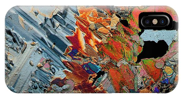 Basalt iPhone Case - Gabbro Microcrystals by Antonio Romero
