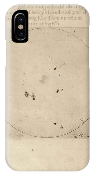 Galileo's Observation Of Sunspots IPhone Case