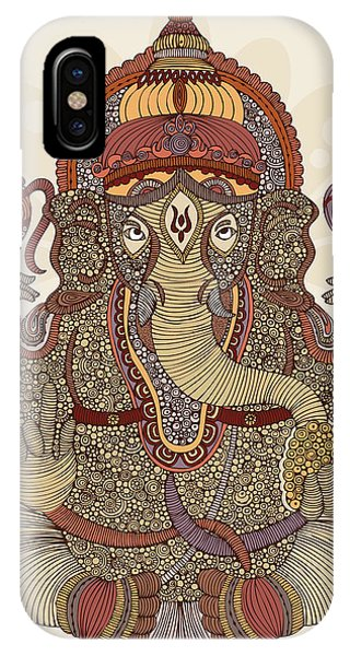 Ganesha Phone Case by Valentina Ramos