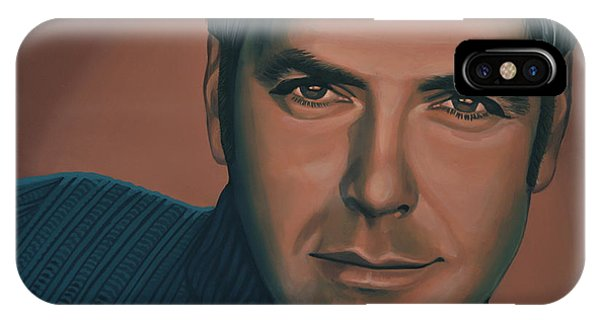 George iPhone Case - George Clooney Painting by Paul Meijering