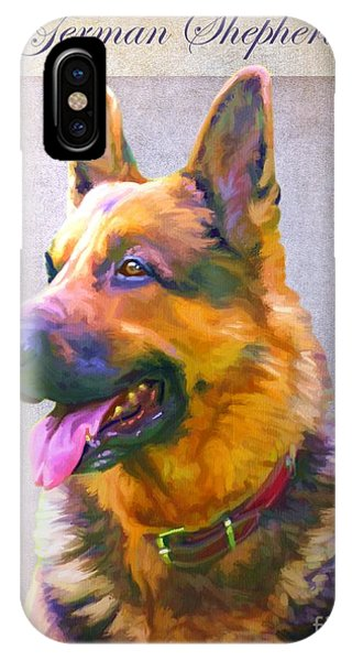 German Shepherd Portrait Phone Case by Iain McDonald