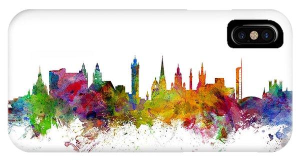 Scotland iPhone Case - Glasgow Scotland Skyline by Michael Tompsett