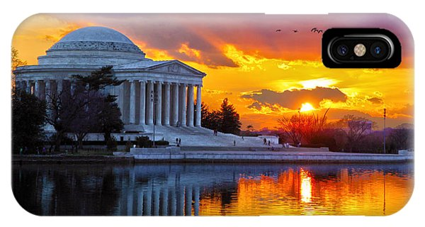 Jefferson Memorial iPhone Case - Glow by Mitch Cat