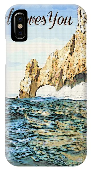 IPhone Case featuring the photograph God Loves You by Beauty For God