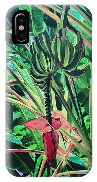 IPhone Case featuring the mixed media Going Bananas by Deborah Boyd