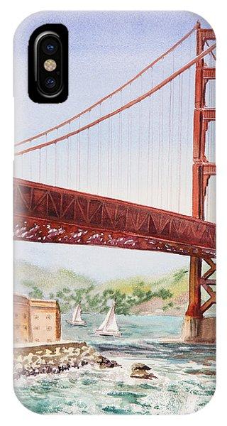 San Francisco iPhone Case - Golden Gate Bridge San Francisco by Irina Sztukowski