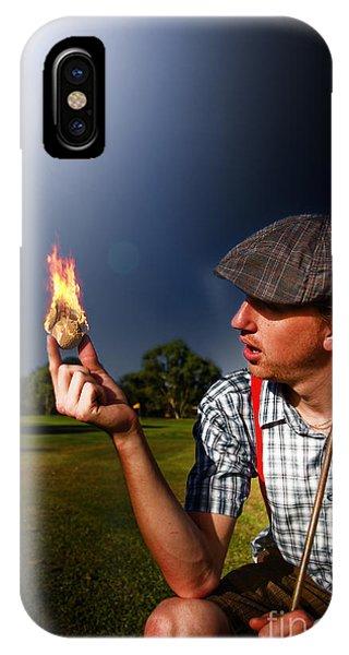 Fire Ball iPhone Case - Golf Ball Flames by Jorgo Photography - Wall Art Gallery