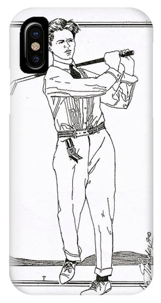 Golfer 1915 IPhone Case