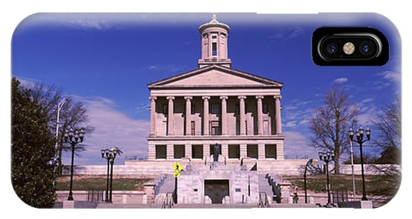 Capitol Building iPhone Case - Government Building In A City by Panoramic Images