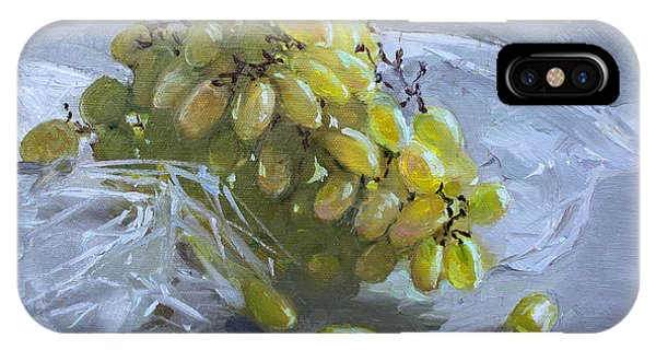 Grape iPhone X Case - Grapes by Ylli Haruni