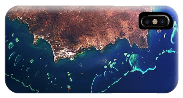 International Space Station iPhone Case - Great Barrier Reef by Nasa/science Photo Library
