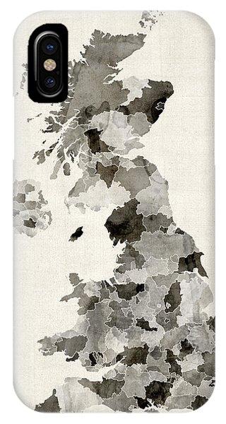 Great Britain Uk Watercolor Map IPhone Case