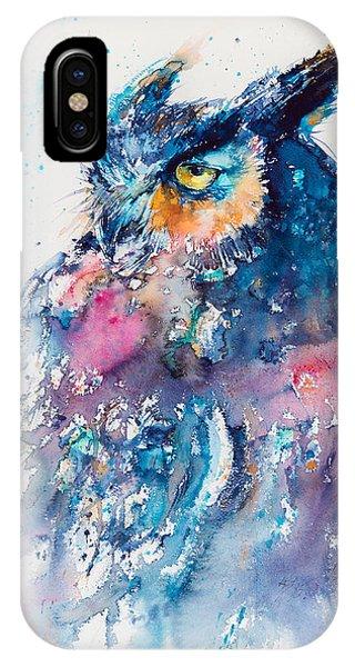 Wild Life iPhone Case - Great Horned Owl by Kovacs Anna Brigitta