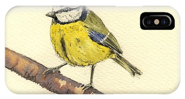 Cute Bird iPhone Case - Great Tit by Juan  Bosco