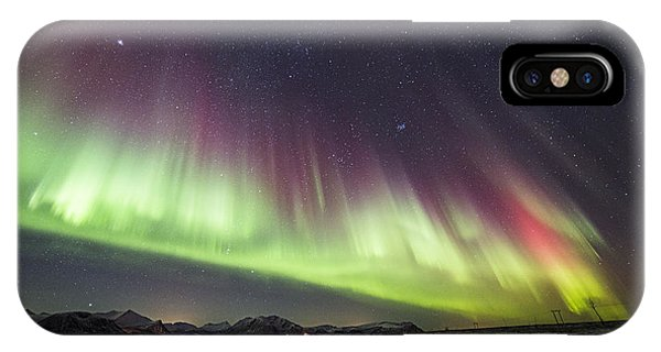 Green And Purple Auroras IPhone Case