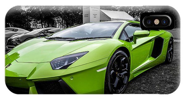 Green Aventador IPhone Case