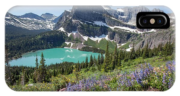 Grinnell Lake Flowers IPhone Case