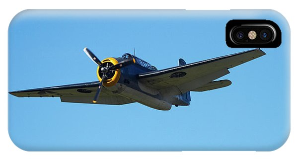 Bomber iPhone Case - Grumman Avenger (with Folding Wings by David Wall