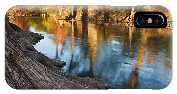 Bald Cypress iPhone Case - Guadalupe River, Texas Hill Country by Larry Ditto