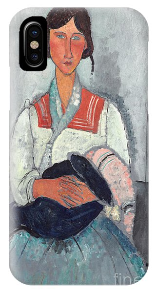 Gypsy Woman With Baby IPhone Case
