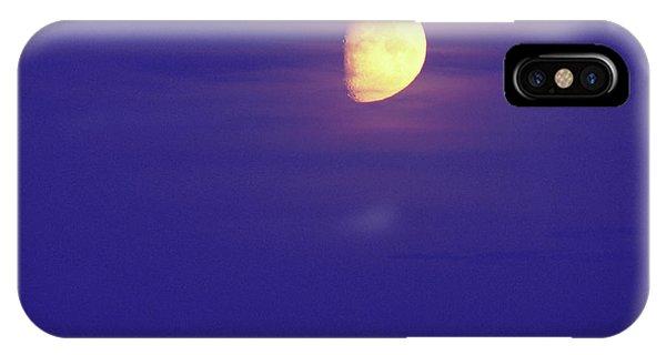 Half Moon iPhone Case - Half Moon by Pekka Parviainen/science Photo Library