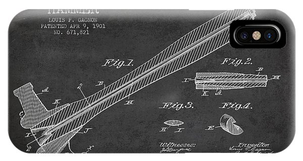 Hammer Patent Drawing From 1901 IPhone Case