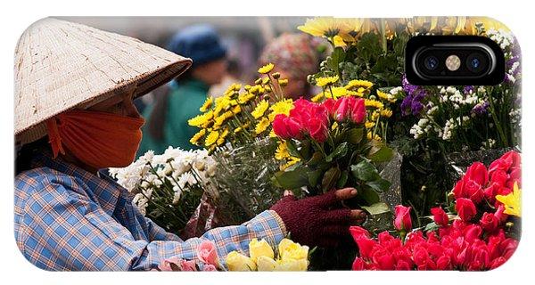 Hanoi Flowers 03 IPhone Case