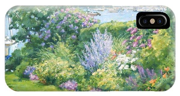 Harbor Garden Phone Case by Sharon Jordan Bahosh