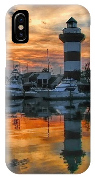 Harbour Town Sunset IPhone Case