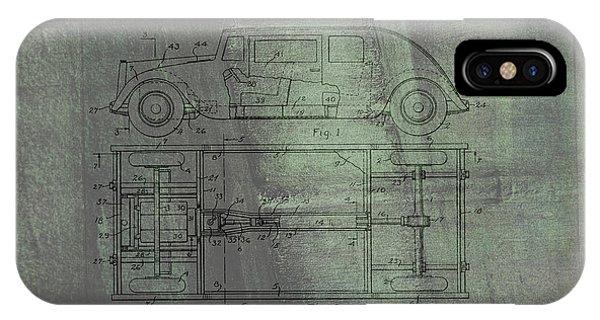 Harleigh Holmes Original Automobile Patent  IPhone Case