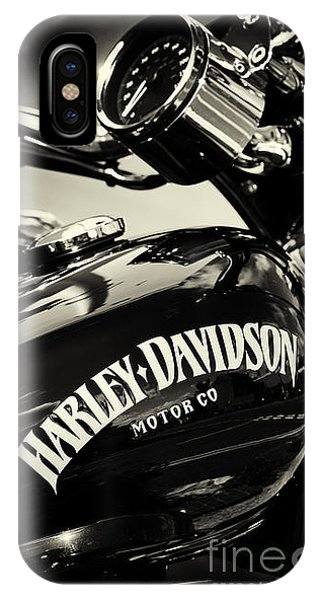 Harley iPhone Case - Harley D Sepia by Tim Gainey