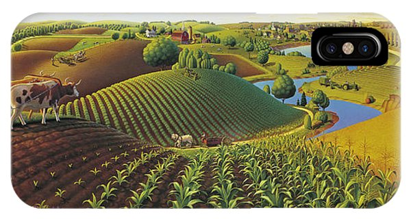 Panorama iPhone Case - Harvest Panorama  by Robin Moline