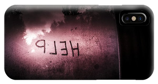 Frost Glass iPhone Case - Help Written On A Misty Glass Window. No Escape by Jorgo Photography - Wall Art Gallery