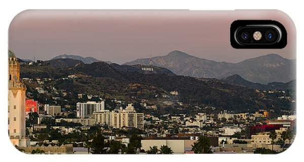 Beverly Hills iPhone Case - High Angle View Of A City, Beverly by Panoramic Images