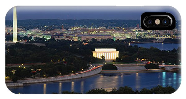 Exterior iPhone Case - High Angle View Of A City, Washington by Panoramic Images