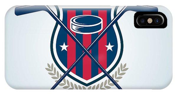 Puck iPhone Case - Hockey Logo,sport by Vextor Studio