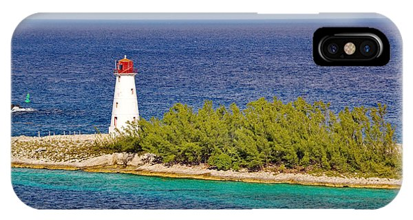 Hog Island Lighthouse On Paradise Island Bahamas IPhone Case