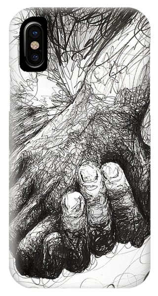 Valentines Day iPhone X Case - Holding Hands by Michael Volpicelli