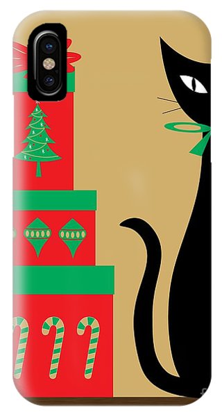 Holiday Cat 2 IPhone Case