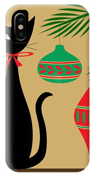 Holiday Cat IPhone Case