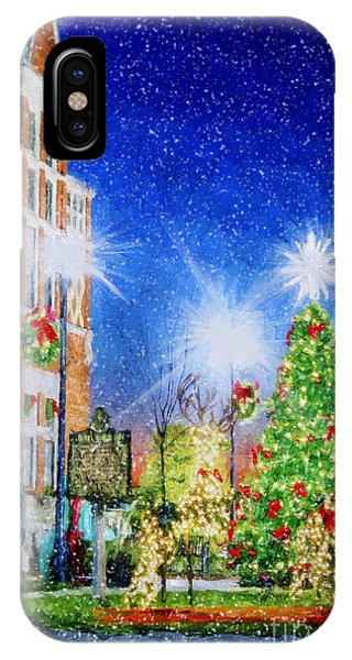 Home Town Christmas IPhone Case