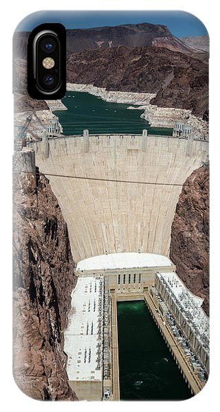 Hoover Dam And Lake Mead During Drought Phone Case by Jim West/science Photo Library