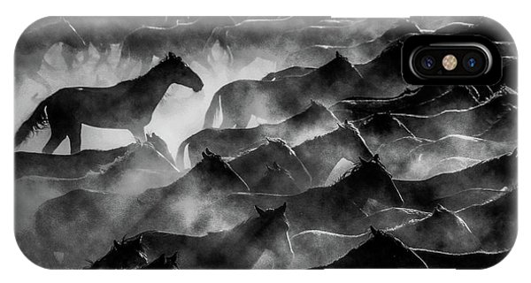 Fog iPhone Case - Horses by ?mm? Nisan