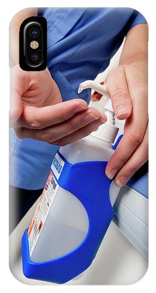 Dispenser iPhone Case - Hospital Hygiene by Jim Varney/science Photo Library